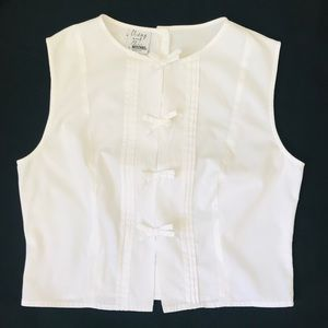 MOSCHINO Cheap & Chic Cropped white Blouse